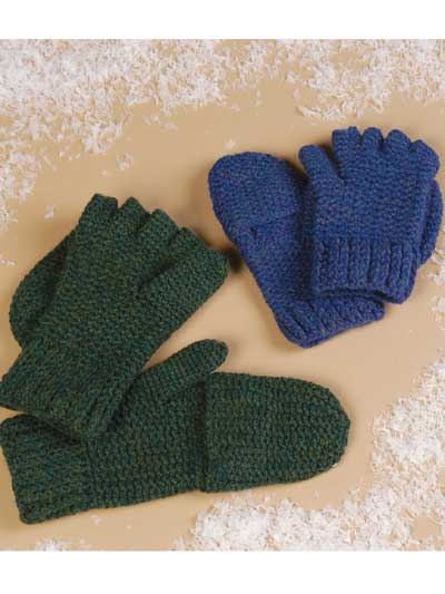 Convertible Mittens Free Crochet Pattern Craft Ideas For Adults