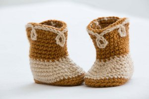 Cowboy Booties Free Crochet Pattern