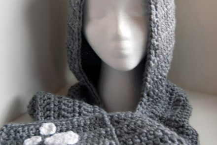 Cozy Cat Hooded Scarf Free Crochet Pattern