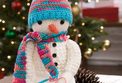 Crazy Cute Snowman Free Crochet Pattern