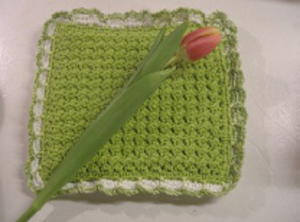 Crunch Stitch Potholder Free Crochet Pattern