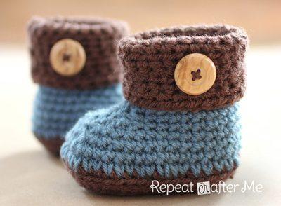 cuffed-baby-booties-free-crochet-pattern
