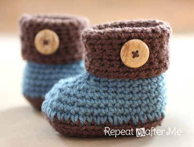 cuffed-baby-booties-free-crochet-pattern