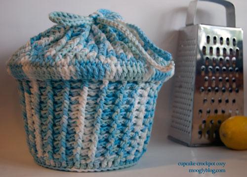 Cupcake Crockpot Cozy Free Crochet Pattern