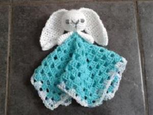 Cute Bunny Comforter Free Crochet Pattern