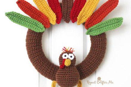 Cute Turkey Wreath Free Crochet Pattern