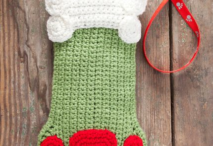 Decorative Doggie Stocking Free Crochet Pattern