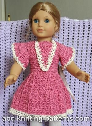 Doll Crochet Summer Dress Free Crochet Pattern Craft Ideas For