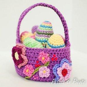 Easter Basket Free Crochet Pattern