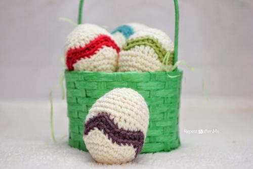 Easter Egg Chevron Free Crochet Pattern