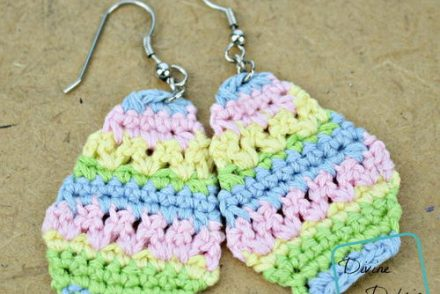 Easter Egg Earrings Free Crochet Pattern