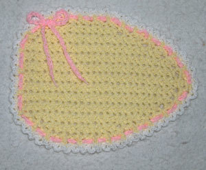 Easter Egg Placemat Free Crochet Pattern