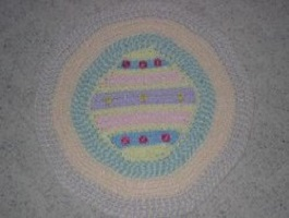Easter Egg Rug Free Crochet Pattern