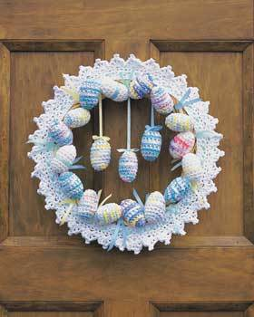 Easter Eggs Wreath Free Crochet Pattern
