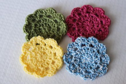 Easy 10 Minute Coasters Free Crochet Pattern