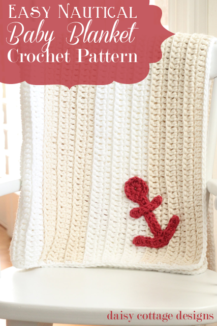 Easy Anchors Away Baby Blanket Free Crochet Pattern