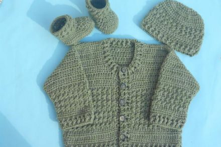 Easy Baby Cardigan Free Crochet Pattern