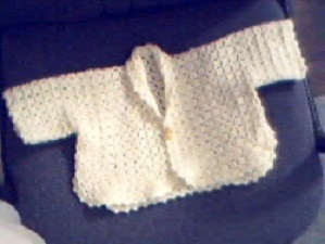 Easy Beige Baby Sweater Free Crochet Pattern