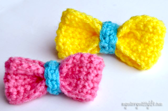 Easy Bow Free Crochet Pattern
