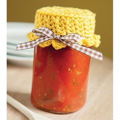 easy-bright-yellow-jar-topper-free-crochet-pattern
