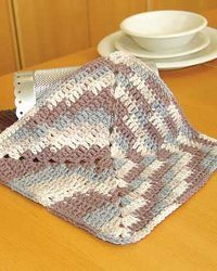 Easy Ombre Dishcloth Free Crochet Pattern