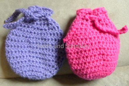 Egg Shaped Goody Bag Free Crochet Pattern