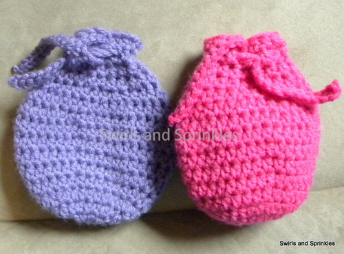 Egg Shaped Goody Bag Free Crochet Pattern