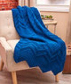 Elegant Ripples Throw Free Crochet Pattern