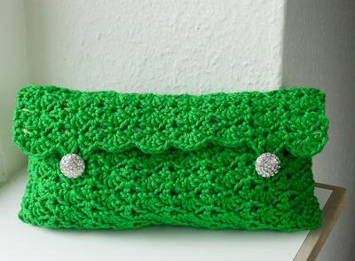 Emerald Clutch Free Crochet Pattern