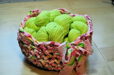 Fabric Basket Free Crochet Pattern