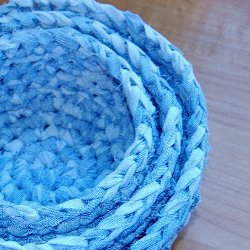 Fabric Nesting Baskets Free Crochet Pattern
