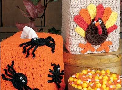 Fall Tissue Covers Free Crochet Patterns