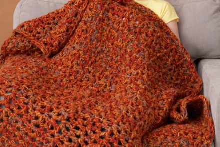 Fall Weekend Throw Free Crochet Pattern