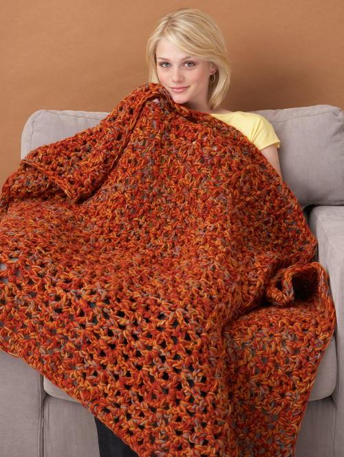 Fall Weekend Throw Free Crochet Pattern