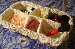 Fancy Spa Basket Free Crochet Pattern