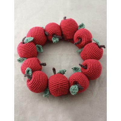 Faux Fruit Wreath Decor Free Crochet Pattern
