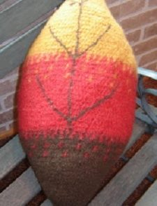 Felted Fall Leaf Pillow Free Crochet Pattern