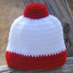 Fishing Bobber Beanie Free Crochet Pattern