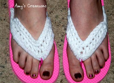 Flip Flop Cover Free Crochet Pattern