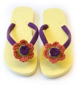 Floral Flip Flops Free Crochet Pattern