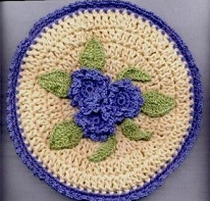 Flowers in Springtime Potholder Free Crochet Pattern