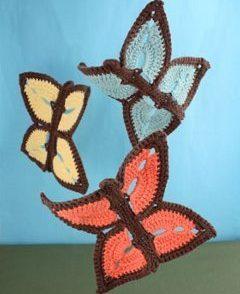 Flutter Butterfly Dishcloth Free Crochet Pattern