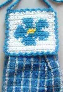 Forget Me Not Towel Topper Free Crochet Pattern