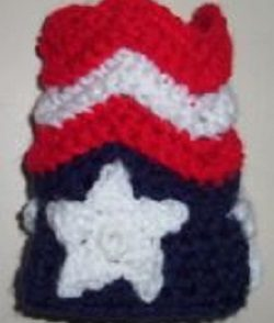 Fourth of July Can Cozy Free Crochet Pattern