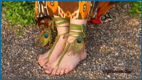 Free Spirit Barefoot Sandals Free Crochet Pattern Craft Ideas For