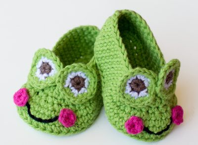 Frog Baby Booties Free Crochet Pattern
