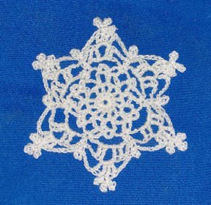 Frosted Snowflake Free Crochet Pattern