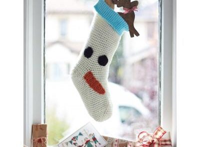 Frozen Friend Stocking Free Crochet Pattern