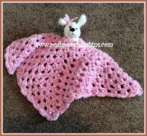 Fuzzy Blanket Lovey Bear Free Crochet Pattern