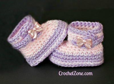 Fuzzy Crochet Booties Free Crochet Pattern